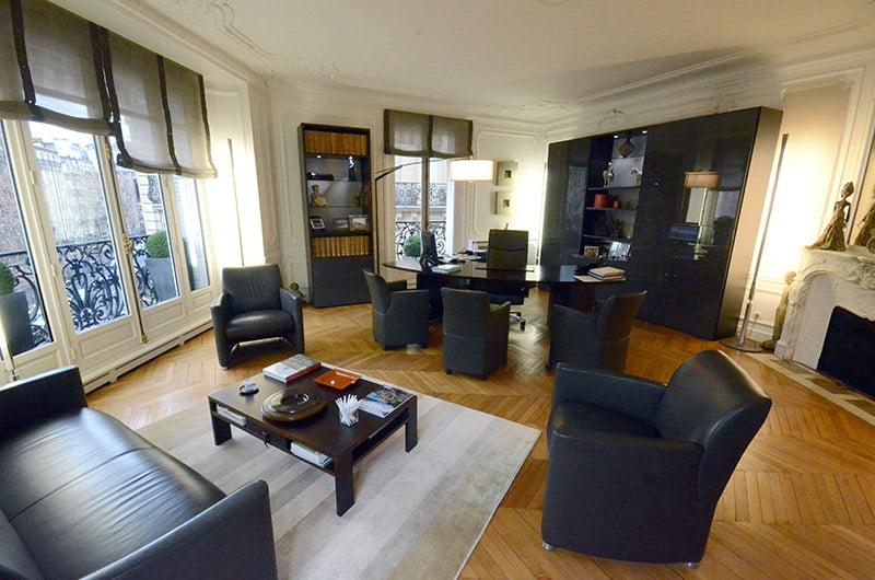 Bureau d'Alain Abergel rue de la Pompe à Paris